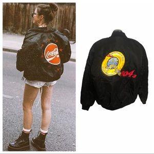 Vintage DJ bomber jacket